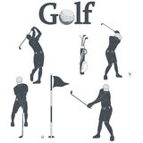 Golf icons Stock Photos