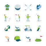 Golf Icons Set Stock Photography