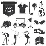 Golf icons Royalty Free Stock Photography