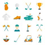 Golf icons set Stock Photography