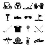 Golf icons set symbols, simple style Royalty Free Stock Images