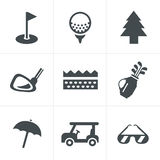 Golf  Icons Set Royalty Free Stock Photos