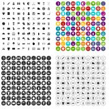 100 golf icons set vector variant. 100 golf icons set vector in 4 variant for any web design isolated on white royalty free illustration