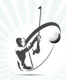 Golf icons silhouette Royalty Free Stock Photos
