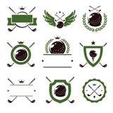 Golf ikony i wektor royalty ilustracja