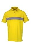 Golf il colore giallo della maglietta per l'uomo o la donna Immagini Stock