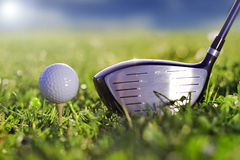 Golf il gioco dell'estrattore a scatto Fotografia Stock Libera da Diritti