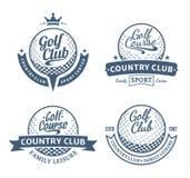 Golf il logo del country club, le etichette e gli elementi di progettazione Fotografia Stock