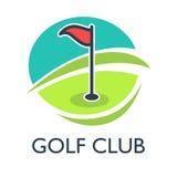 Golf il modello o l'icona di logo del country club per il torneo Fotografia Stock