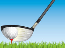 Golf illustration. Stock Photo
