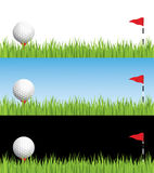 Golf illustration. With differnet backgrounds.  Grouped and layered for easy editing Stock Photography