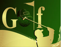 Golf illustration Royalty Free Stock Photos
