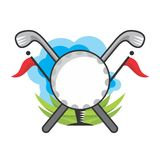 Golf illustration Royalty Free Stock Photography