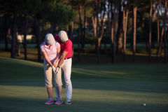 Golf instructions Royalty Free Stock Images