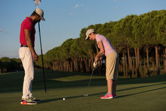 Golf instructions Royalty Free Stock Photography