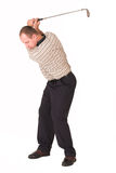 Golf iron #2. Full backswing with an iron Royalty Free Stock Photos