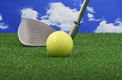 Golf iron club Royalty Free Stock Photos