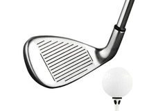 Golf Iron club tee Royalty Free Stock Image