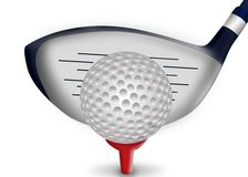 Golf iron and golf ball. Sports concept,3d&computer generated Royalty Free Stock Photo