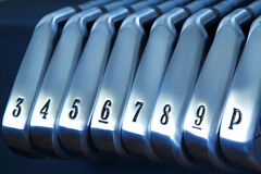 Golf Irons Stock Photos