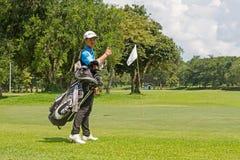 golf isolerat spelarewhitebarn Royaltyfri Foto