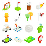 Golf isometric 3d icon set Royalty Free Stock Images