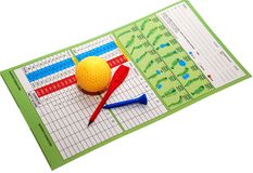 Golf items. Image on the white background Stock Images