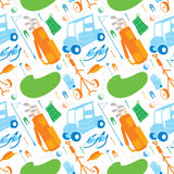 Golf Items Pattern. A seamless pattern made up of golfing items Royalty Free Stock Photos