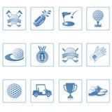golf ja ikony sieć Zdjęcie Stock