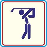 Golf jouant le symbole pour le téléchargement Projets d'impression d'icônes de vecteur Images stock