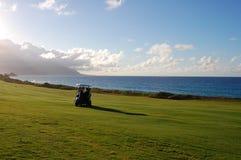 Golf at Kanehoe royalty free stock photo