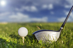 Golf kicker play. With golf ball on pi Stock Photography