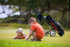 Golf with Kids Royalty Free Stock Photo