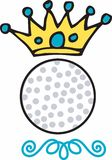 Golf King Crown Royalty Free Stock Photography