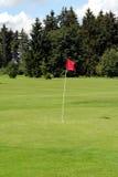 Golf - kop, bal, fanion stock foto's