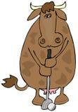 golf krowa. royalty ilustracja