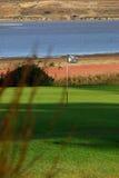 Golf la bandierina Fotografie Stock Libere da Diritti