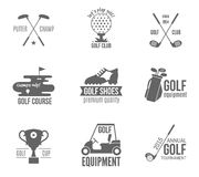 Golf label set Royalty Free Stock Photo