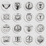 Golf labels, badges and emblems Stock Images