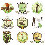 Golf labels, badges and emblems Royalty Free Stock Image