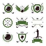 Golf labels and icons set. Vector Stock Images