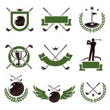 Golf labels and icons set. Vector Stock Image
