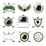 Golf labels and icons set. Vector Royalty Free Stock Photo
