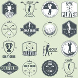 Golf labels Stock Image