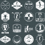 Golf labels Royalty Free Stock Images