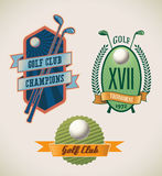 Golf labels Royalty Free Stock Photos
