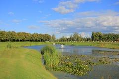 Golf and Lake Stock Photo