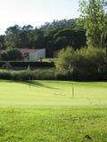 Golf lawn. Beautiful golf lawn in evening light Stock Photo