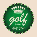 Golf league sign Royalty Free Stock Image