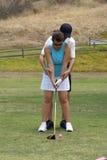 Golf-Lektionen Stockbild
